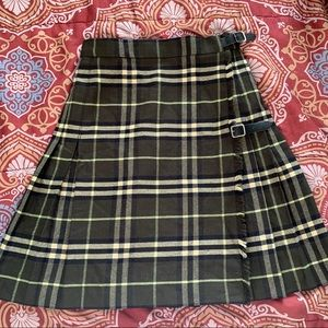 Rare vintage Burberry plaid skirt